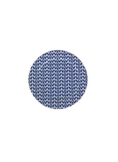 Porland Porland Blue Desen5 Düz Tabak 20cm Renkli